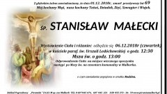 Zmarł Stanisław Małecki. Żył 69 lat.