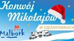 Malbork: Konwój Mikołajów w ciężarówkach