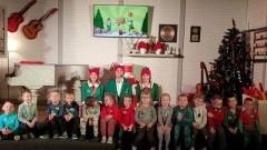 Uczniowie SP w Jantarze w Wielkiej Fabryce Elfów