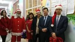 Mikołaj z Burmistrzem Malborka odwiedzili najmłodszych pacjentów PCZ