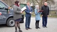 Poświęcenie samochodu i spotkanie opłatkowe w malborskim Środowiskowym Domu Samopomocy.
