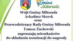 """Kolejna edycja konkursu """"Doroty"""" w Gminie Miłoradz"""