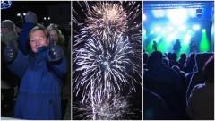 Huczny sylwester w Malborku i życzenia na Nowy Rok. Zobacz pokaz fajerwerków z naszych kamer.