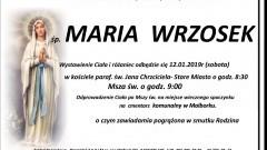 Zmarła Maria Wrzosek. Żyła 65 lat.