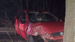 Samochód osobowy uderzył w drzewo. Wypadek w kierunku Pruszcza Gdańskiego