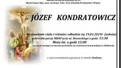 Zmarł Józef Kondratowicz. Żył 89 lat.