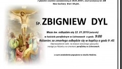 Zmarł Zbigniew Dyl. Żył 58 lat.