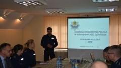 Roczna odprawa służbowa w Komendzie Powiatowej Policji w Nowym Dworze Gdańskim