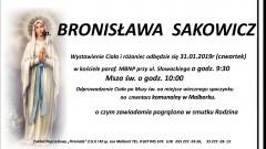 Zmarła Bronisława Sakowicz. Żyła 102 lata.