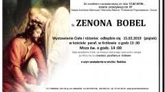 Zmarła Zenona Bobel. Żyła 87 lat.