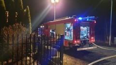 Malbork: Pożar drewna na ulicy Miłej