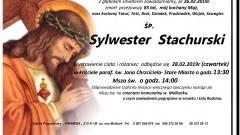 Zmarł Sylwester Stachurski. Żył 85 lat.