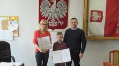 Uczeń Zespołu Szkół i Przedszkola w Miłoradzu wyróżniony w konkursie ,,25 lat Europejskiej Konwencji Praw Człowieka w Polsce''.