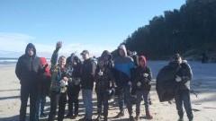 Skowronki/ Krynica Morska: Zebrano 50 worków odpadów na 1,5 km odcinku plaży.