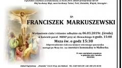 Zmarł Franciszek Markuszewski. Żył 64 lata