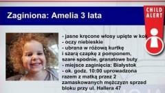 Poszukiwana 3-letnia Amelka i jej mama. Policja prosi o pomoc. Udostępnij