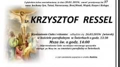Zmarł Krzysztof Ressel. Żył 37 lat.