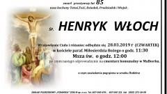 Zmarł Henryk Włoch. Żył 85 lat.