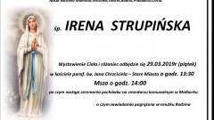 Zmarła Irena Strupińska. Żyła 85 lat