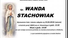 Zmarła Wanda Stachowiak. Żyła 92 lata.