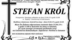 Zmarł Stefan Król. Żył 70 lat
