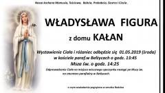 Zmarła Władysława Figura. Żyła 89 lat.