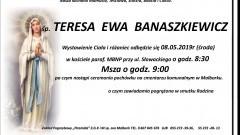 Zmarła Teresa Ewa Banaszkiewicz. Żyła 63 lata.