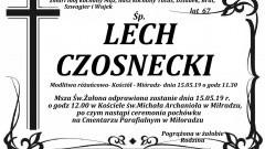 Zmarł Lech Czosnecki. Żył 67 lat.