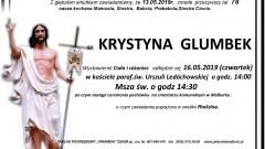Zmarła Krystyna Glumbek. Żyła 78 lat.