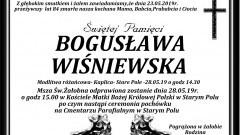 Zmarła Bogusława Wiśniewska. Żyła 84 lata.