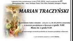 Zmarł Marian Traczyński. Żył 69 lat