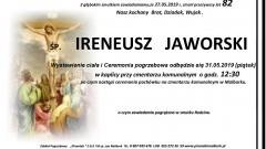 Zmarł Ireneusz Jaworski. Żył 82 lata.