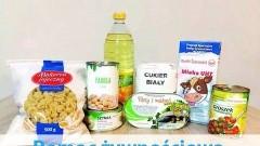 Dystrybucja paczek żywnościowych dla mieszkańców Gminy Miłoradz