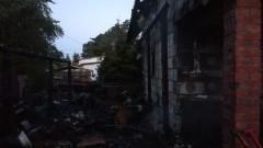 Pożar budynku mieszkalnego w Stegnie.