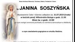 Zmarła Janina Soszyńska. Żyła 89 lat.