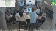 IX Sesja Rady Gminy Mikołajki Pomorskie. Na żywo.