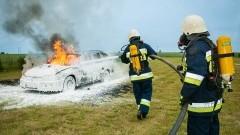 Pożary samochodów i wypadek motocyklisty – weekendowy raport nowodworskich służb mundurowych.