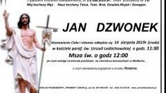 Zmarł Jan Dzwonek. Żył 70 lat.