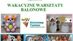 Wakacyjne warsztaty balonowe w Kończewicach.