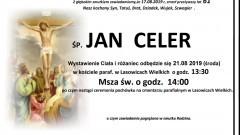 Zmarł Jan Celer. Żył 61 lat.