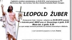 Zmarł Leopold Żuber. Żył 71 lat.