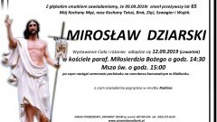 Zmarł Mirosław Dziarski. Żył 65 lat.