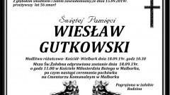 Zmarł Wiesław Gutkowski. Żył 56 lat