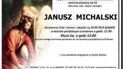 Zmarł Janusz Michalski. Żył 53 lata
