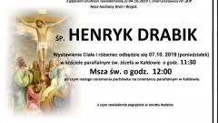 Zmarł Henryk Drabik. Żył 59 lat.