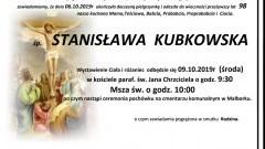 Zmarła Stanisława Kubkowska. Żyła 98 lat.