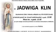 Zmarła Jadwiga Klin. Żyła 70 lat.