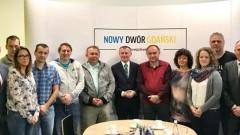 Nowy Dwór Gdański:Delegacja z miasta partnerskiego Velká nad Veličkou w Czechach gościem w Urzędzie Miasta