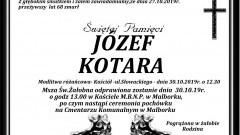 Zmarł Józef Kotara. Żył 68 lat