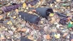 Dwa niewybuchy z II wojny światowej w lesie na Mierzei Wiślanej